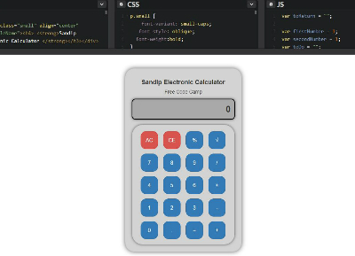 JavaScript Calculator : By Sandip Subedi